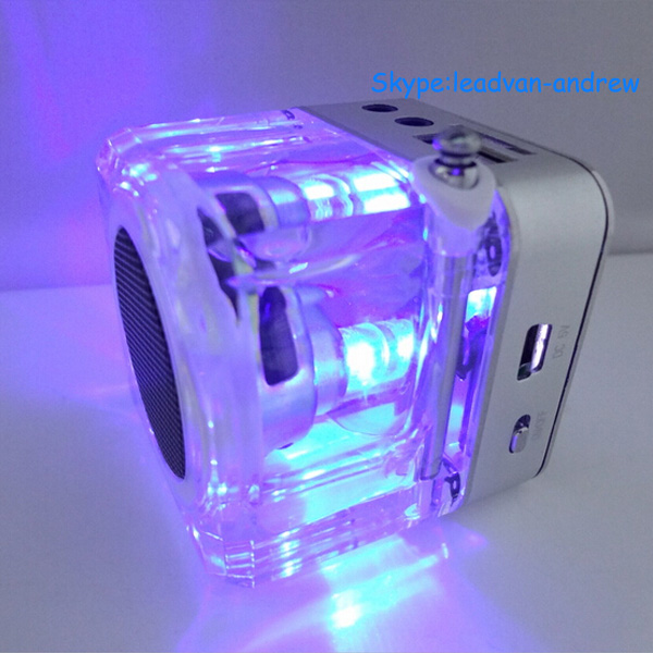 Top Sale Support USB TF FM Radio Multimedia Flash Mini Music Cube Portable Speaker