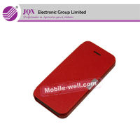 mobile phone leather case for iphone 5 leather case