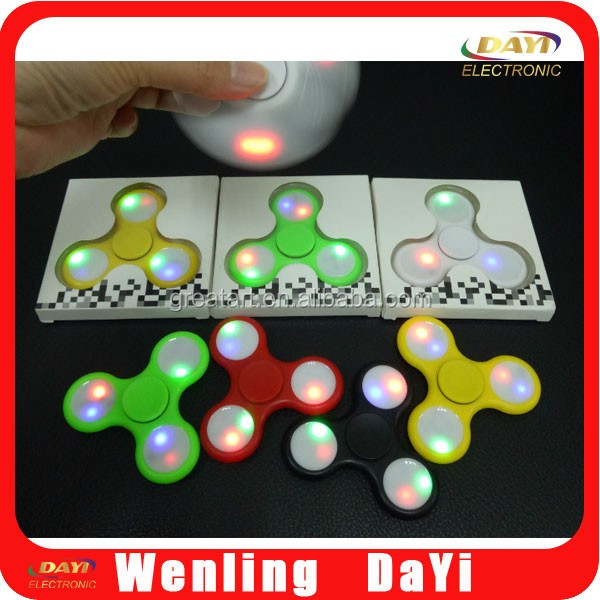2017 new design led fidget spinner 608 hybrid Ceramic Bearing hand spinner toy spinner fidget