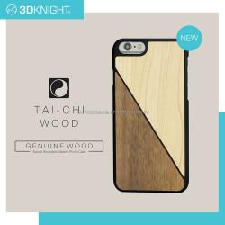 For iphone cell phone wood case, fashion design marble seashell canvas leather wood cases for iPhone 6s real material