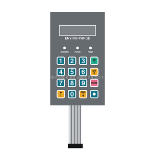 Gray Gradient Color Panel Metal Dome Membrane Switch Keypad