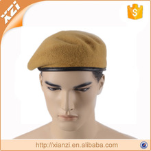 100% wool promotional bordered cowhide military beret
