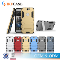 Shockproof Robot Armor Case Hybrid Rugged Hard Mobile Cover for HTC One A9 with Stand