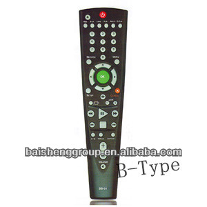 Learning or universal OEM TV remote control with jumbo case and keys