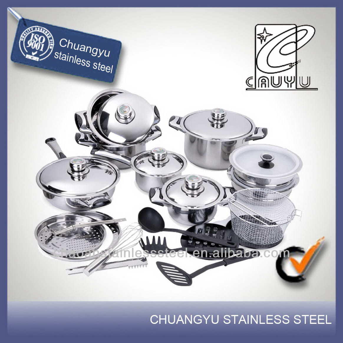 stainless steel capsule bottom corningware cookware set