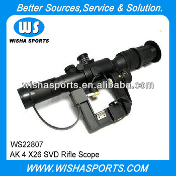 AK 4 X26 SVD Tactical Airsoft Rifle gun Scopes