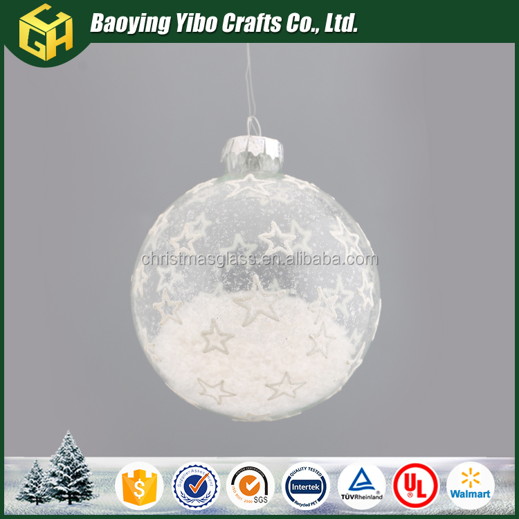Clear white snow in ball cheap bulk christmas gifts