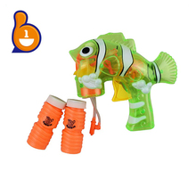 hot sale soap bubble toy flashing fish bubble gun for outdoor
