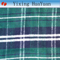green and white check plaid flannel fabric