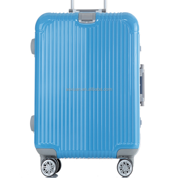 2015 Shanghai luggage factory PC ABS aluminum frame luggage