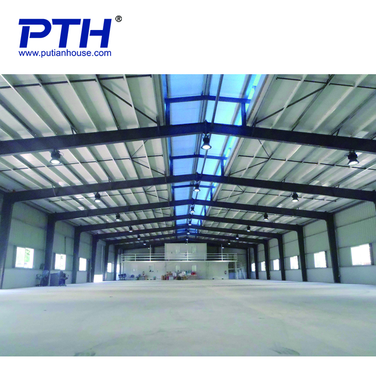 Temporary modular EPS sandwich panel roof prefabricated steel structure warehouse/workshop/school