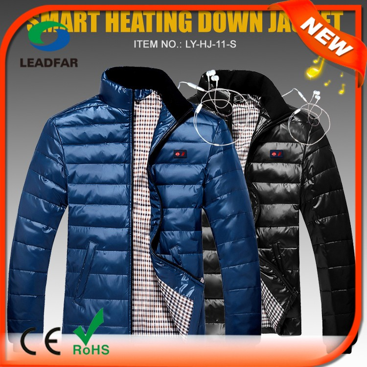Rechargeable Battery USB Foldable Heating Down Jackets