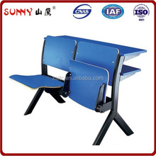 Two Seats Plastic Auditorium Chair / Auditorium Chair with Desk