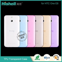 Cheap TPU phone case invisible thickness clear cell phone case for HTC one E8