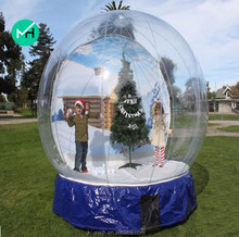 professional supplier outdoor cheap giant christmas inflatable snow globe for sale