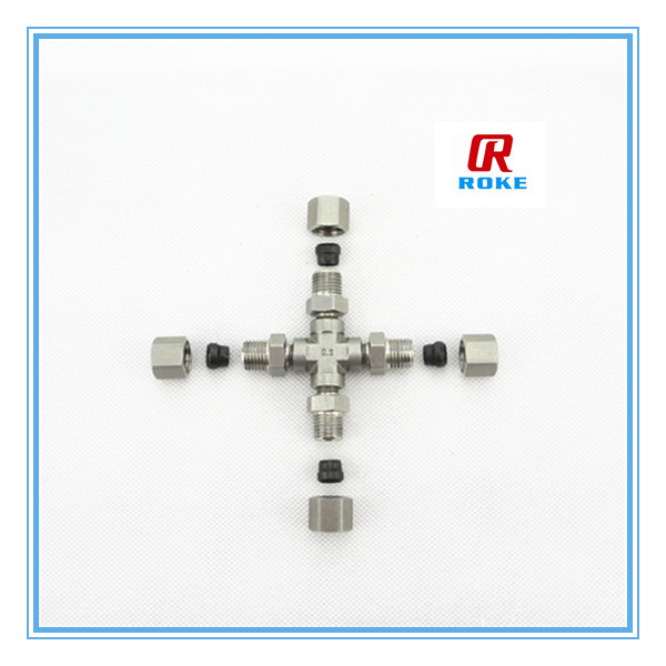 high pressure stainless steel 316 pipe fitting sanitary cross equal cross