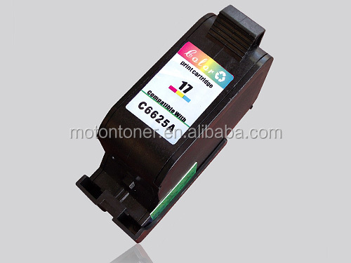 Hot sale product remanufactured inkjet for HP C6625A(17) color cartridge with high quality