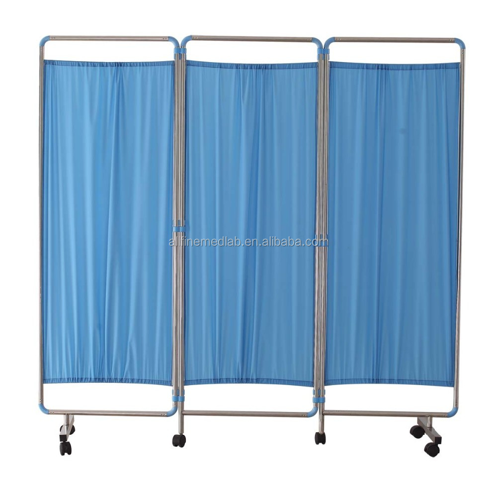 High Quality Stainless Steel Hospital Bed Screen curtain, ward folding screen