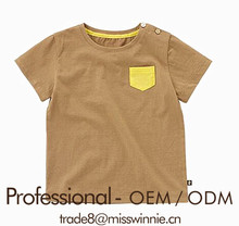 Ritzy boys solid color top tee shirt manufacture for your brand
