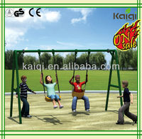 Outdoor swing set-triple swing/Kids Metal Swing Set with Three Seats for School, home and park use
