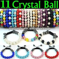 2015 Wholesales Shamballa Bracelets with Shamballa Crystal ball