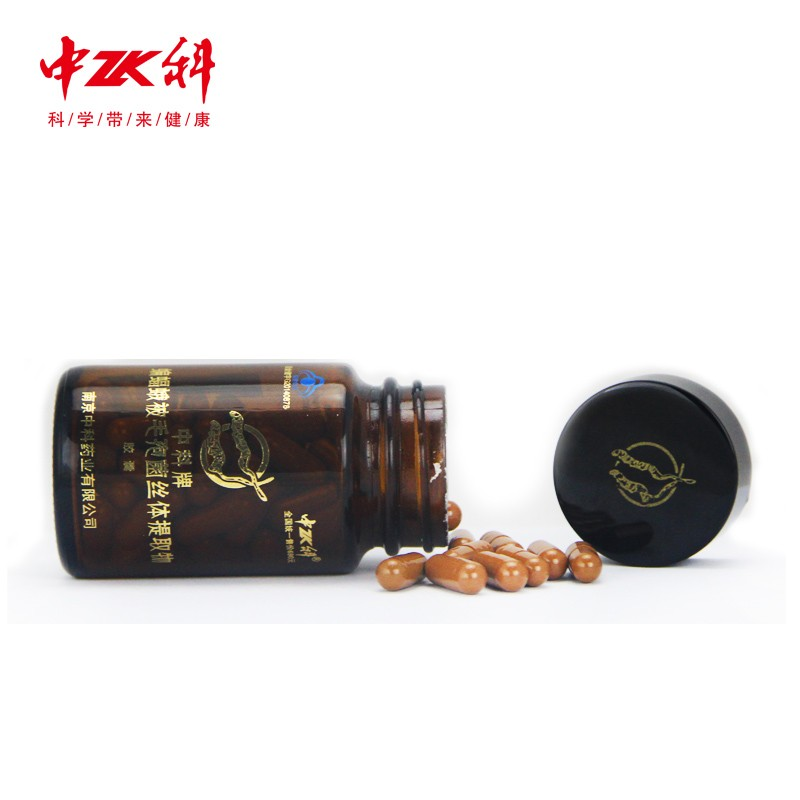 2017 Hot Sale dietary supplement cordyceps sinensis extract capsule lung care immunity improvement 0.23g*60caps OEM