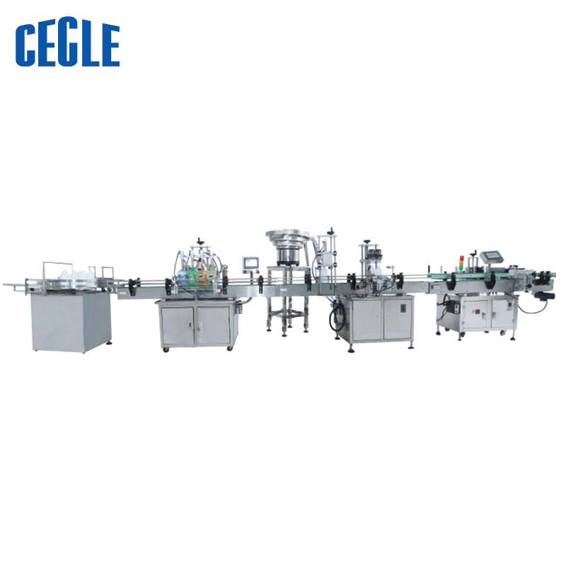 A4-500 50-500ML Full automatic liquid bottle filling and capping machine for oil, washing liquid, drink and many liquid products