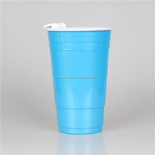 Big Size 32OZ Plastic Coffee Cup with Silicone Sleeve