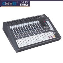 Power amplifier mixer console P12USB With recording function