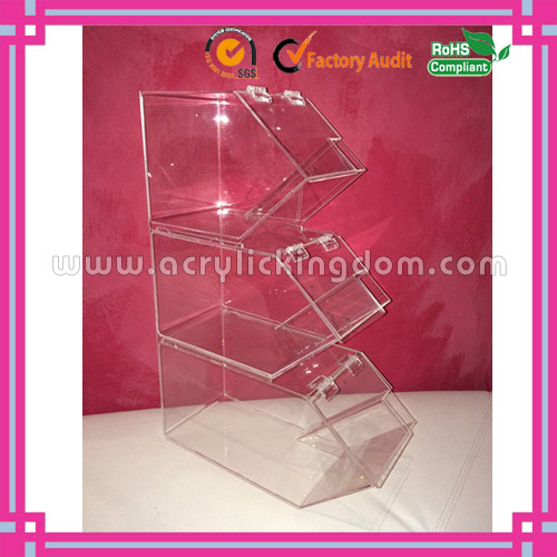 excellent 3 tiers stackable clear acrylic candy bins manufacturer