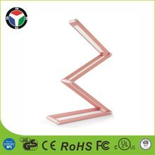 LED Desk Lamp Multi Shape Deformable Foldable Table Light 2 Level Brightness, Dimmable Portable USB Aluminum Alloy