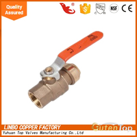 "LB-GutenTop 3 port PEX Plumbing Manifold 3/4""Male Sweat 1/2 Ball Valve with PUSH FIT open end"