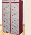 Easy assembly red flowers wardrobe