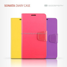 mercury goospery SONATA diary leather wallet case for iphone4G 4S