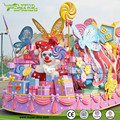 Festival Decor Fiberglass Candy Statue Floats Parade