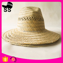 Newest Fashion China Factory Wide Brim summer mexico sombrero Nature Plant custom logo lifeguard Straw Hats