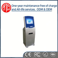 High quality standalone metal case interactive touch screen touchscreen information table kiosk
