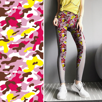 Beautiful print stretch exercise fitness fabric by the yard