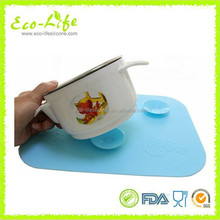 Silicon Magic Baby Bowl Sucker Placemat Anti Slip Desk Mat for Child Dining