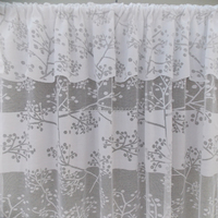 2015 Turkey design cheap lace curtain with valance