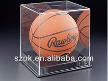 clear acrylic basket ball and golf ball display stand