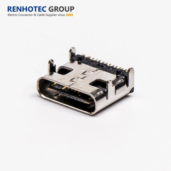 Top-mount Receptacle USB 3.1 Type <strong>C</strong> 16pin DIP female Jack Power mobile charging jack connector