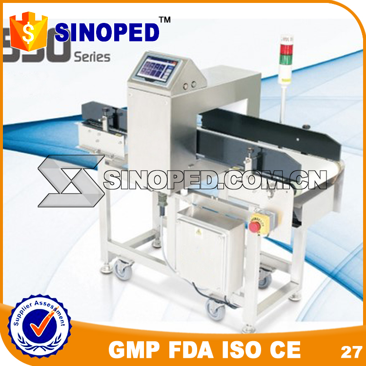 SINOPED Chinese factory Food Security Detector Conveyor Belt Metal Detector