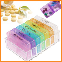 7 Day 28 Cell Tablet Week Pill Medicine Holder