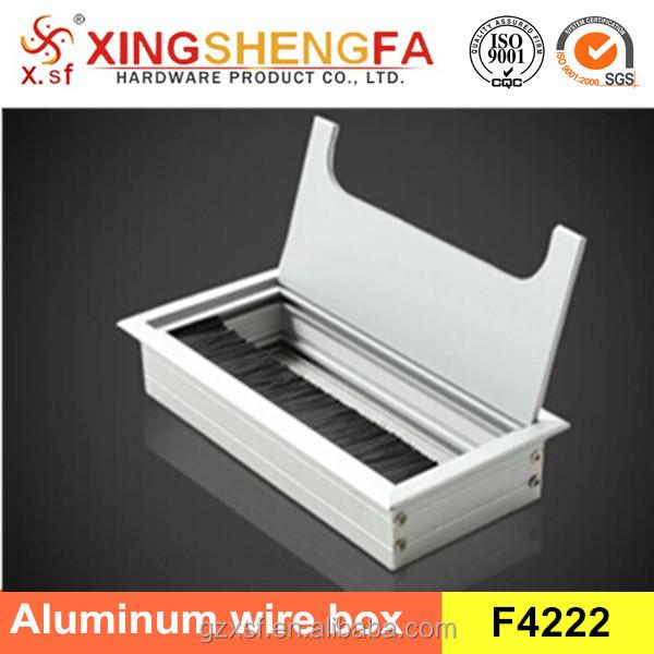hot sale aluminum desk cable tidy outlet grommet insert 160mm x 80mm
