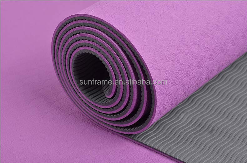 6mm Eco TPE yoga mat Extra wide 26inch No Smell Double-sided pilates mat