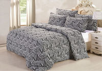 luxury hotel printed Microfibre bedding set