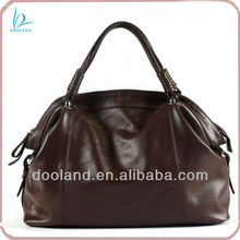 Soft full grain vegetable cowhide genuine italian leather handbag women
