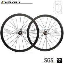 Veloss 2 Years warranty road bike asymmetry rim,Toray T700 Carbon Fiber 700C offset disc brake carbon wheels with novatec hub