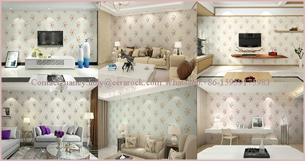 hot sale beautiful 3d wall paper designs for home decoration